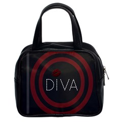 Diva Lips Pattern  Classic Handbag (two Sides)