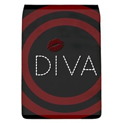 Diva Lips Pattern  Removable Flap Cover (large)