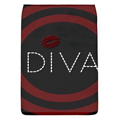 Diva Lips Pattern  Removable Flap Cover (small)