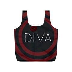 Diva Lips Pattern  Reusable Bag (S)