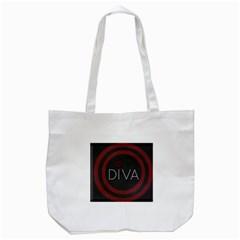 Diva Lips Pattern  Tote Bag (white)