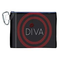 Diva Lips Pattern  Canvas Cosmetic Bag (XXL)