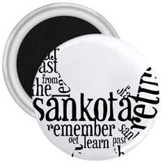 Sankofashirt 3  Button Magnet