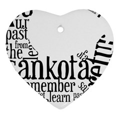 Sankofashirt Heart Ornament