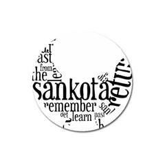 Sankofashirt Magnet 3  (round)