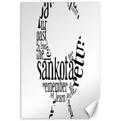 Sankofashirt Canvas 20  X 30  (unframed)