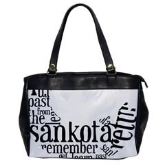 Sankofashirt Oversize Office Handbag (one Side)