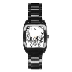 Sankofashirt Stainless Steel Barrel Watch