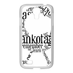 Sankofashirt Samsung GALAXY S4 I9500/ I9505 Case (White)