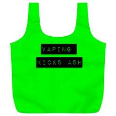 Vaping Kicks Ash Florescent  Reusable Bag (xl)
