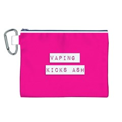 Vaping Kicks Ash Pink  Canvas Cosmetic Bag (Large)