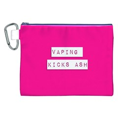 Vaping Kicks Ash Pink  Canvas Cosmetic Bag (XXL)