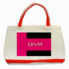 Diva Hot Pink Classic Tote Bag (Red)