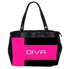Diva Hot Pink Oversize Office Handbag (two Sides)