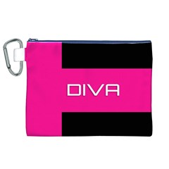 Diva Hot Pink Canvas Cosmetic Bag (xl)