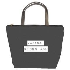 Vaping Kicks Ash Blk&wht  Bucket Handbag