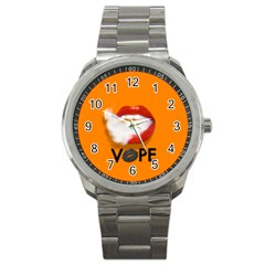 Lips Vape Smoke  Sport Metal Watch