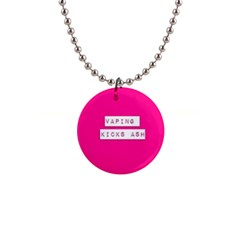 Vaping Kicks Ash Pink  Button Necklace