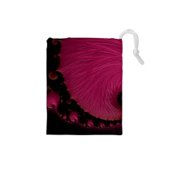 Beautiful Fractal  Drawstring Pouch (Small)