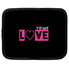 Love Yo self  Netbook Sleeve (large)