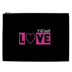 Love Yo self  Cosmetic Bag (xxl)