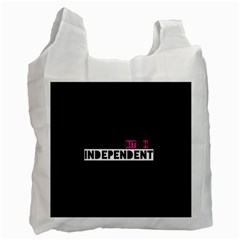 Independent Bit H White Reusable Bag (one Side)