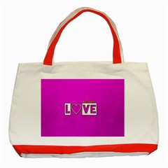 Love Yo self  Classic Tote Bag (Red)