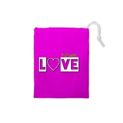 Love Yo self  Drawstring Pouch (Small)