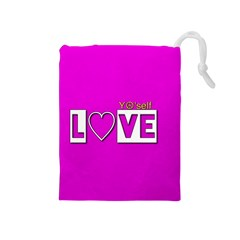 Love Yo self  Drawstring Pouch (medium)