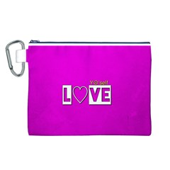 Love Yo self  Canvas Cosmetic Bag (Large)
