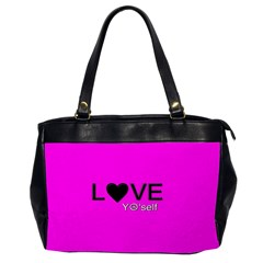 Love Yo self  Oversize Office Handbag (two Sides)