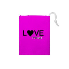 Love Yo self  Drawstring Pouch (Small)