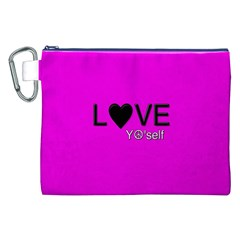 Love Yo self  Canvas Cosmetic Bag (xxl)