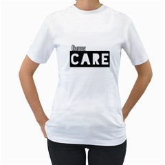 Obummer Care  Women s Two Sided T Shirt (white)