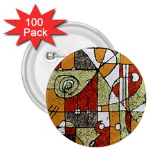 Multicolored Abstract Tribal Print 2 25  Button (100 Pack)