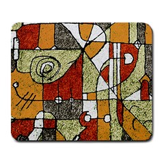 Multicolored Abstract Tribal Print Large Mouse Pad (rectangle)