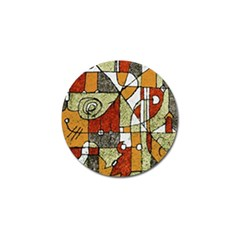 Multicolored Abstract Tribal Print Golf Ball Marker