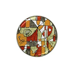 Multicolored Abstract Tribal Print Golf Ball Marker 4 Pack (for Hat Clip)