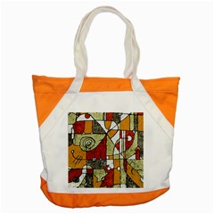 Multicolored Abstract Tribal Print Accent Tote Bag