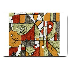 Multicolored Abstract Tribal Print Large Door Mat