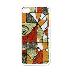 Multicolored Abstract Tribal Print Apple Iphone 4 Case (white)
