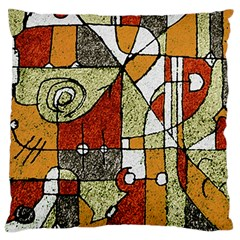 Multicolored Abstract Tribal Print Large Cushion Case (two Sided)