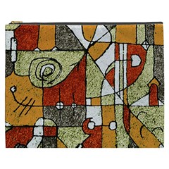 Multicolored Abstract Tribal Print Cosmetic Bag (xxxl)