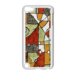 Multicolored Abstract Tribal Print Apple iPod Touch 5 Case (White)