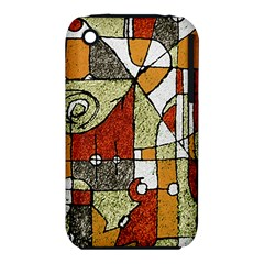 Multicolored Abstract Tribal Print Apple Iphone 3g/3gs Hardshell Case (pc+silicone)