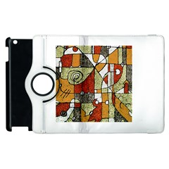 Multicolored Abstract Tribal Print Apple iPad 2 Flip 360 Case