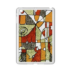 Multicolored Abstract Tribal Print Apple Ipad Mini 2 Case (white)