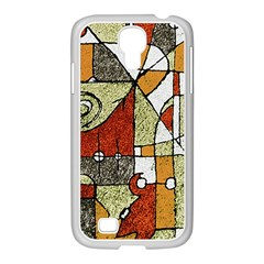 Multicolored Abstract Tribal Print Samsung Galaxy S4 I9500/ I9505 Case (white)