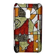 Multicolored Abstract Tribal Print Nokia Lumia 620 Hardshell Case