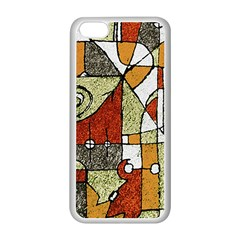 Multicolored Abstract Tribal Print Apple iPhone 5C Seamless Case (White)